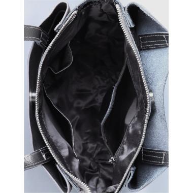 Женская кожаная сумка SVEN ЗАМША. Пепельный