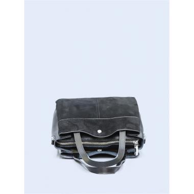 Женская кожаная сумка SVEN ЗАМША. Черный