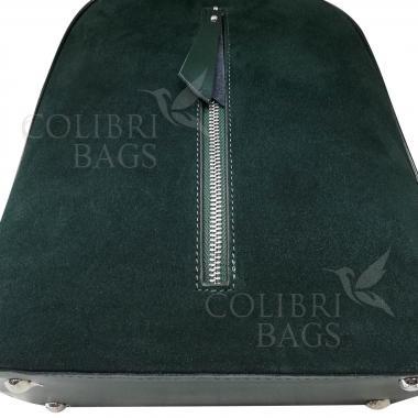 Рюкзак SYDNEY ЗАМША. Темно-зеленый.