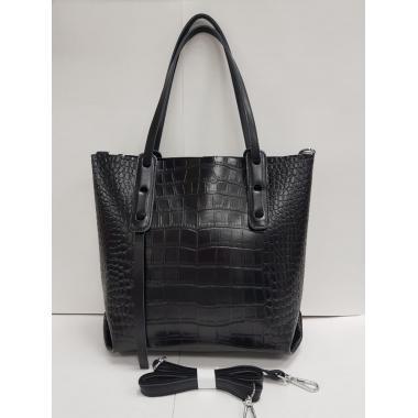 Женская кожаная сумка TAISA MAXI. Черный