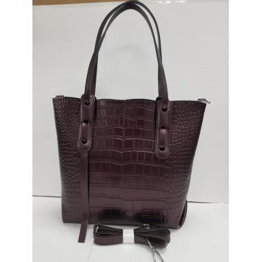 Женская кожаная сумка TAISA MAXI. Кофе жемчужный