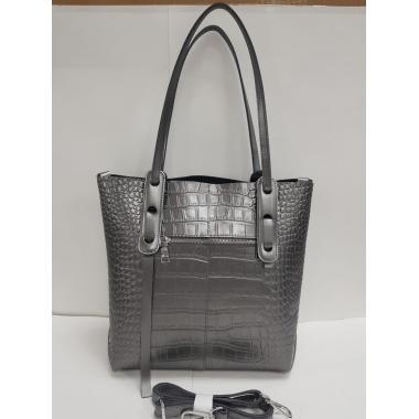 Женская кожаная сумка TAISA MAXI. Стальной