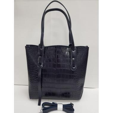 Женская кожаная сумка TAISA MAXI. Темно-синий