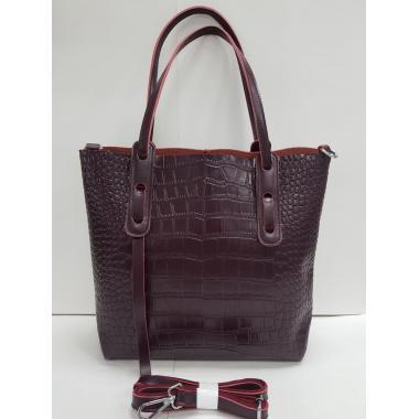 Женская кожаная сумка TAISA MAXI. Ежевичный