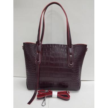 Женская кожаная сумка TAISA MIDI. Ежевичный