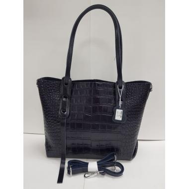 Женская кожаная сумка TAISA MIDI. Темно-синий