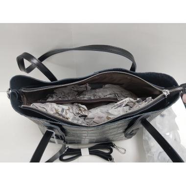 Женская кожаная сумка TAISA MIDI. Черный