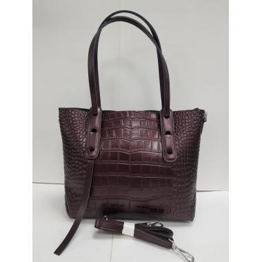Женская кожаная сумка TAISA MIDI. Кофе жемчужный