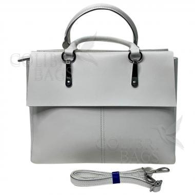 Женская кожаная сумка TARTY. Белый.
