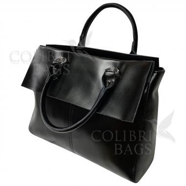 Женская кожаная сумка TARTY. Черный.