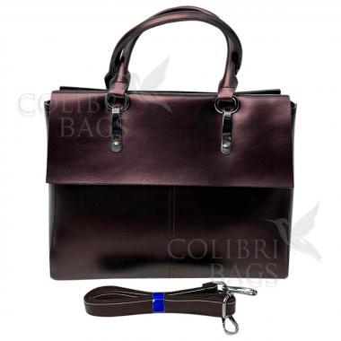 Женская кожаная сумка TARTY. Кофе жемчужный.