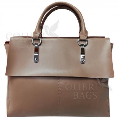 Женская кожаная сумка TARTY. Пудровый.
