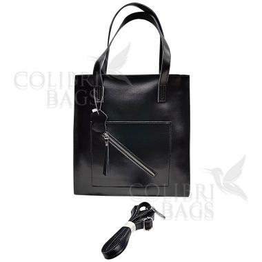 Женская кожаная сумка TATTI. Черный