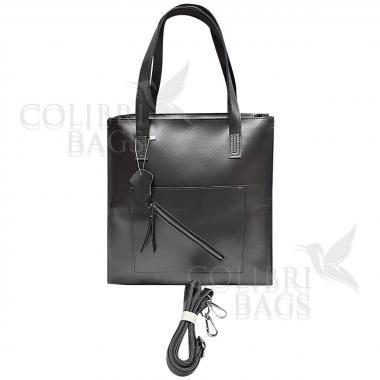 Женская кожаная сумка TATTI. Стальной