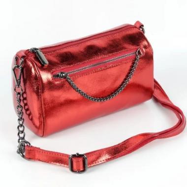 Женская кожаная сумка TATTO.Красный