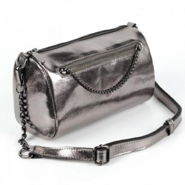 Женская кожаная сумка TATTO.Серебро