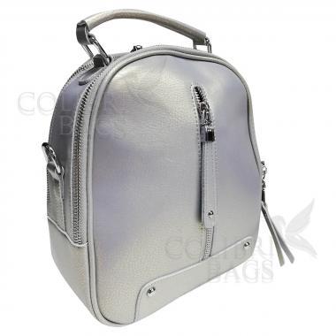 Рюкзак-трансформер Teo. Серый перламутр