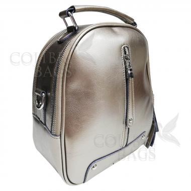 Рюкзак-трансформер Teo. Темное серебро