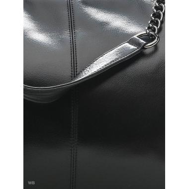 Женская кожаная сумка TEOTENA. Черный