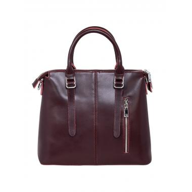 Женская сумка из натуральной кожи TESLA. Ежевичный