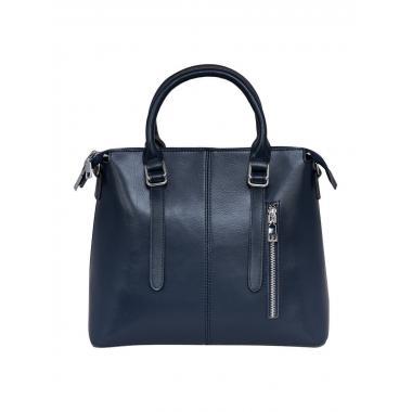 Женская сумка из натуральной кожи TESLA. Темно-синий