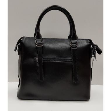 Женская кожаная сумка TESLA ЗАМША. ЧЕРНЫЙ.