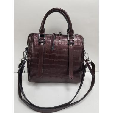 Женская кожаная сумка TESLINA PITON. Кофе жемчужный