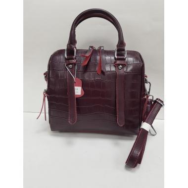 Женская кожаная сумка TESLINA PITON. Ежевичный