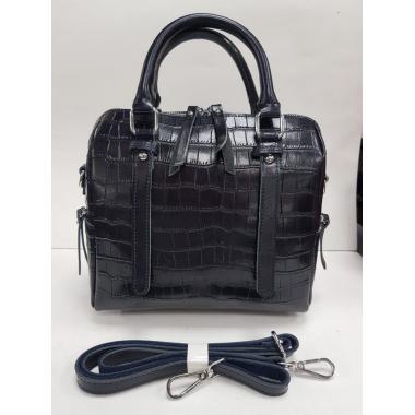 Женская кожаная сумка TESLINA PITON. Темно-синий