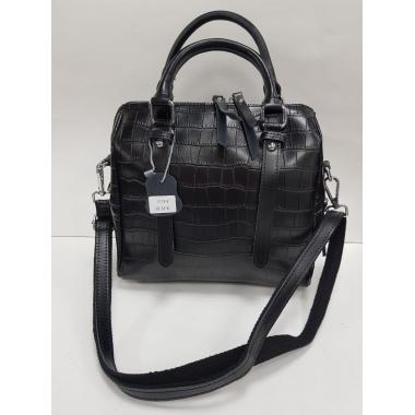 Женская кожаная сумка TESLINA PITON. Черный