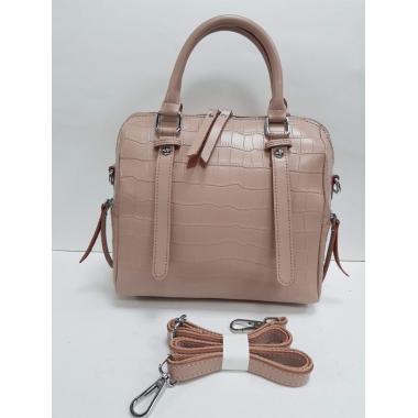 Женская кожаная сумка TESLINA PITON. Пудровый