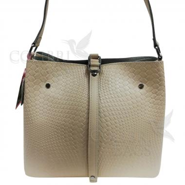 Женская кожаная сумка Tiana Illusion. Бежевый