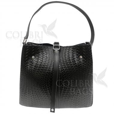 Женская кожаная сумка Tiana Illusion. Черный