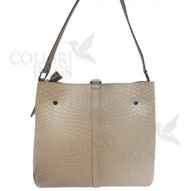 Женская кожаная сумка Tiana Illusion. Слоновая кость