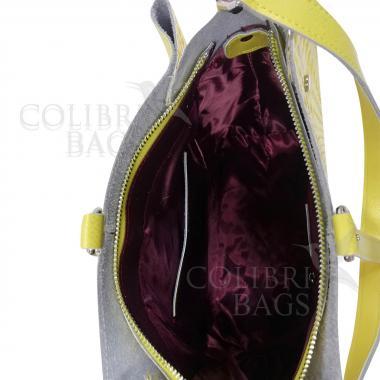 Женская кожаная сумка Tiana Illusion. Белый