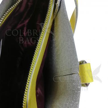 Женская кожаная сумка Tiana Illusion. Светло-серый