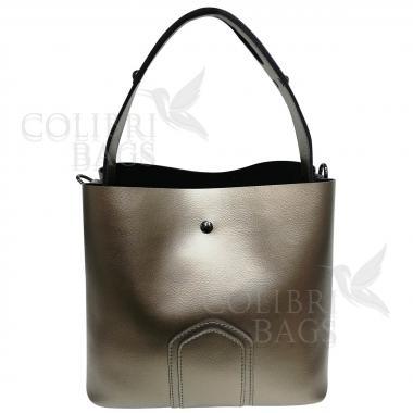 Женская кожаная сумка Todes Nova. Бронза