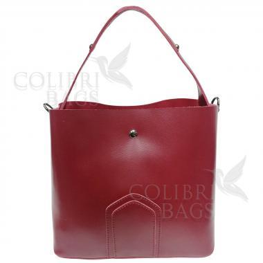 Женская кожаная сумка Todes Nova. Гранат