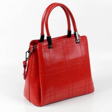 Женская кожаная сумка TRAVIZO. Красный.