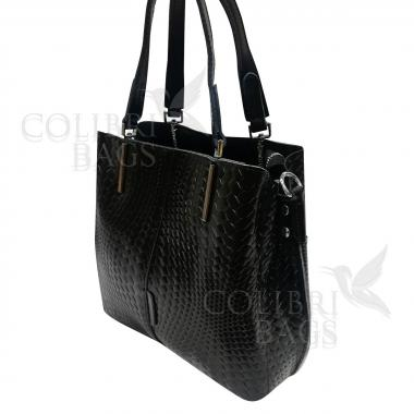Женская кожаная сумка Trinity Illusion. Черный