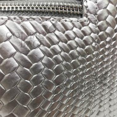 Женская кожаная сумка Trinity Illusion. Серебро