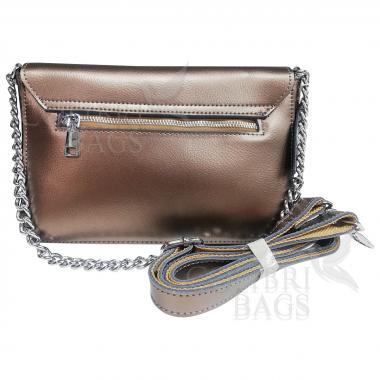 Женская кожаная сумка Unico. Лиловый