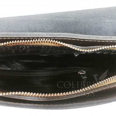 Женская кожаная сумка Unico. Бронза