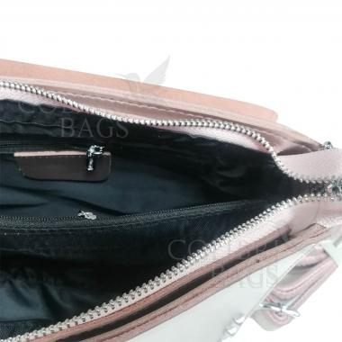 Женская кожаная сумка Unico. Жемчуг