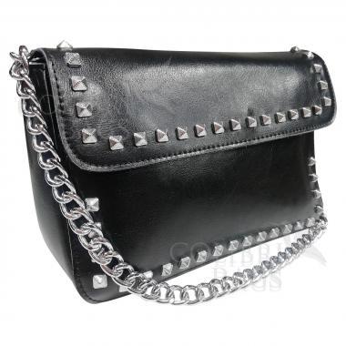 Женская кожаная сумка Unico. Черный