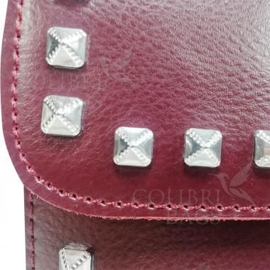 Женская кожаная сумка Unico.  Ежевичный