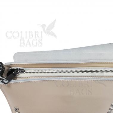 Женская кожаная сумка Unico.  Слоновая кость