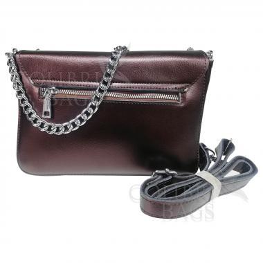 Женская кожаная сумка Unico.  Кофе жемчужный