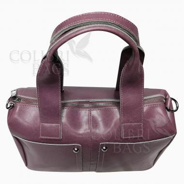 Женская кожаная сумка VEGA. Сиреневый
