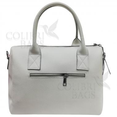 Женская кожаная сумка Vega Diplomat. Белый